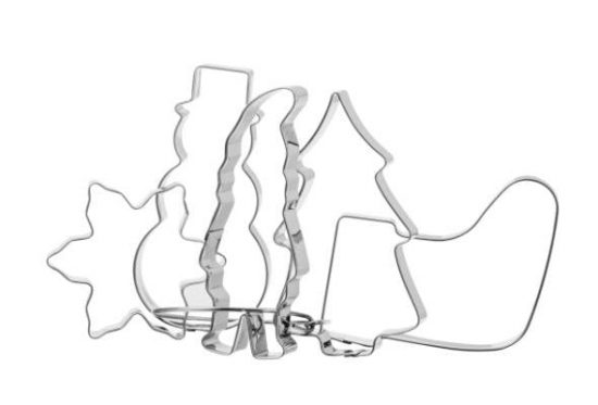 Gastromax Kakmåttsset med Julmotiv