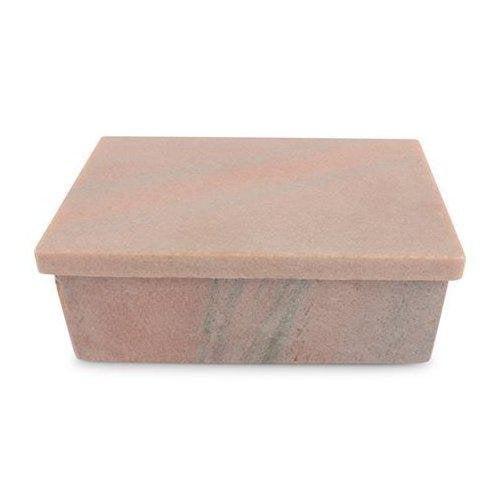 Senso Ask med lock rosa marmor
