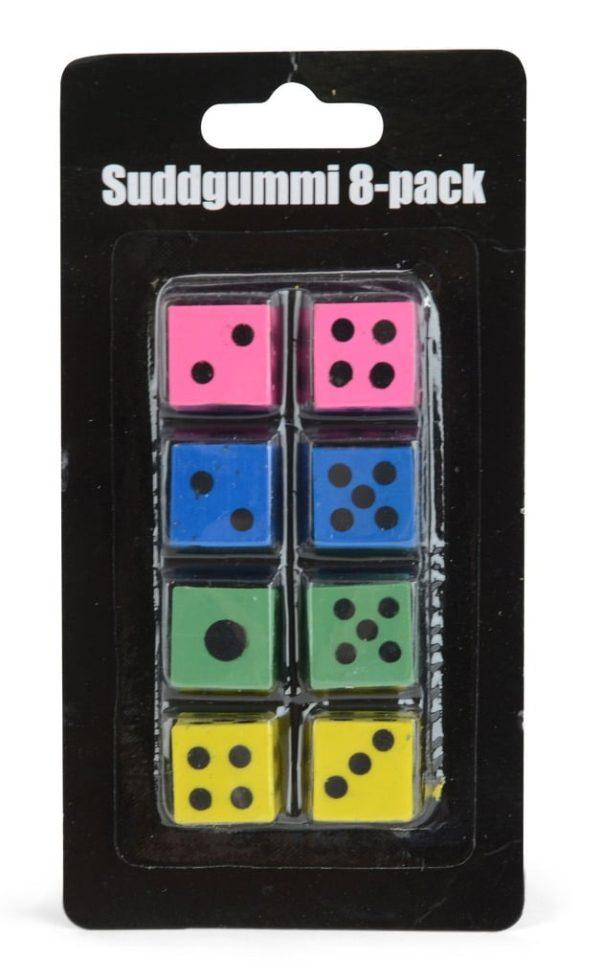 Suddgummi Tärning 8-Pack
