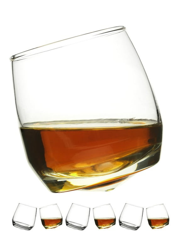 Sagaform Whiskeyglas med rundad botten, 6-pack