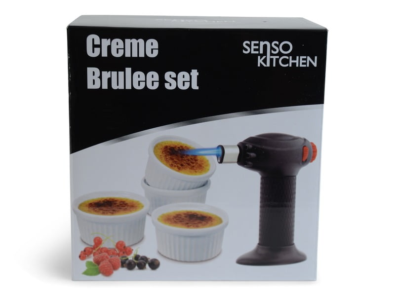 Creme Caramel Set 4 Skålar 1 Brännare