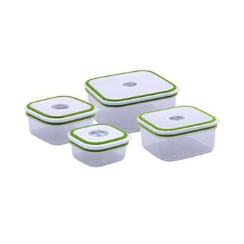 Förvaringsburk Set 4-delar med datumlock