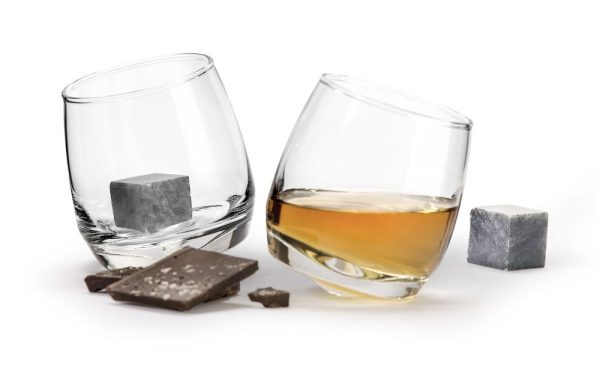 Sagaform Giftset Club whiskeyglas & whiskey stenar