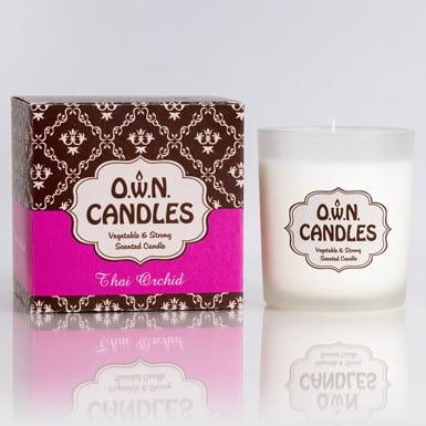 O.W.N Candles Doftljus Glasburk Thai Orchid