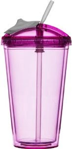 Sagaform Fresh Smoothie-mugg 0,45 liter Rosa