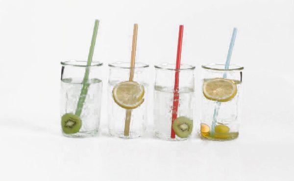 Dricksglas Jars med sugrör 4-pack