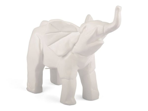 Form Living Dekoration Vit Elefant
