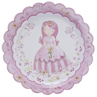 Princess Party - Papperstallrikar 8 pack