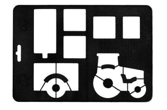Gastromax Utskärare traktor med släp 28,5 cm