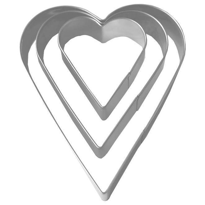 CJ Kakmått / Hjärtan utstickare 3-pack