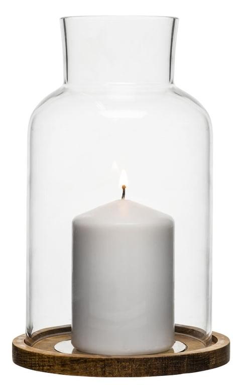 Sagaform, Oval Oak Ljuslykta 13 cm