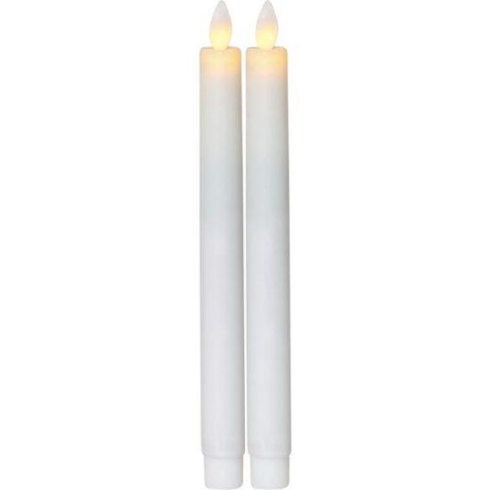 LED Antikljus 2-PACK GLOW 24 cm m timer