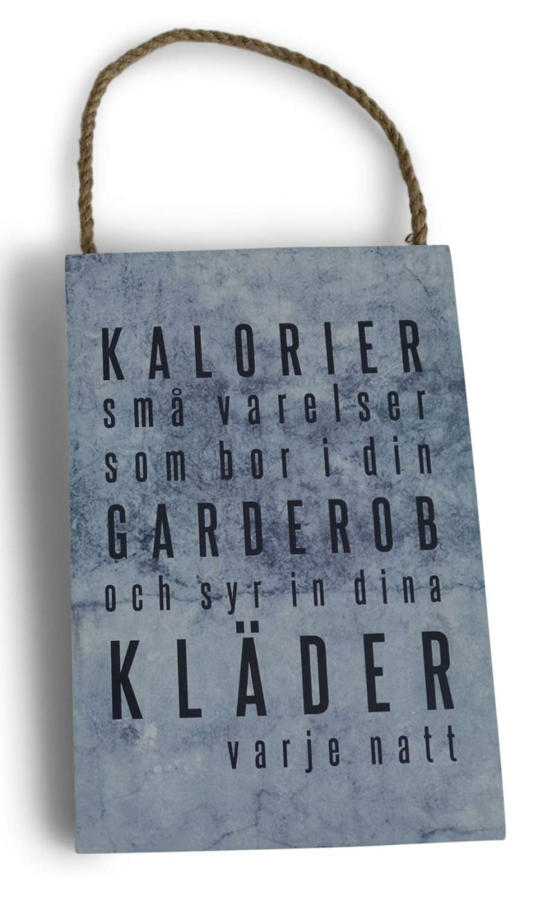From Living Tavla Kalorier 16x24 cm