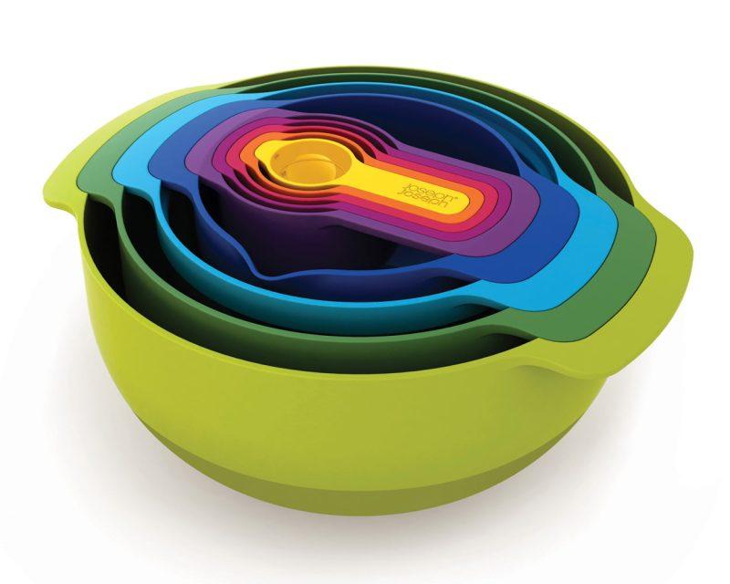 Joseph Joseph Nest 9 beredningsskålset med måtbägare mixfärg