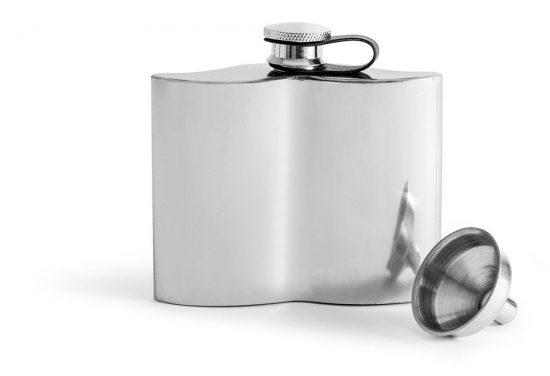 Sagaform Mustasch fickplunta, silver