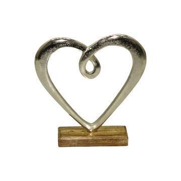 Dorre Hjärta Hedy silverfärgad 24,5 cm