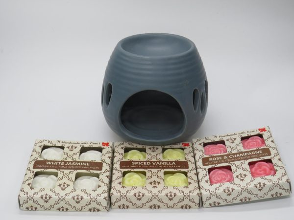 Paket med Aromalampa och 12 handgjorda miljövänliga doftvax