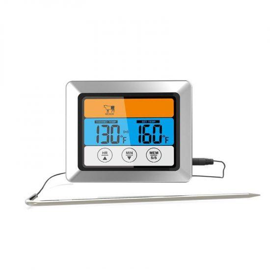 Dorre Stektermometer Svart Digital Lång Sladd