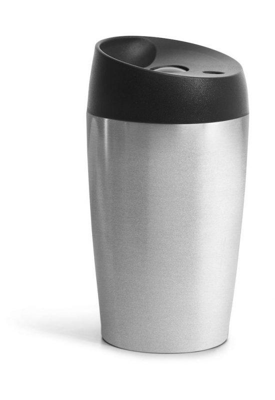 Sagaform Bilmugg med låsbar tryckfunktion, liten silver