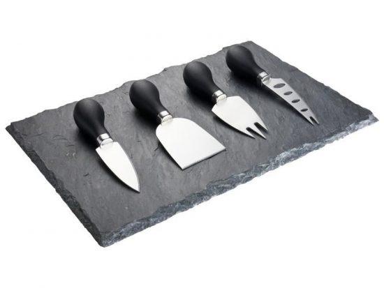 Taylors Ostset 4 Knivar med Granit Bricka