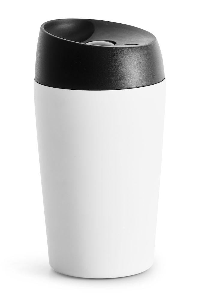 Sagaform Bilmugg med låsbar tryckfunktion, liten vit