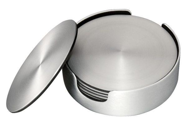 Dorre Glasunderlägg Aluminium 6-pack