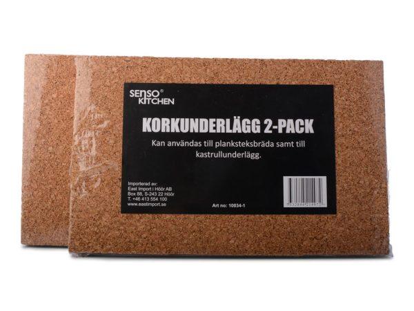 Korkunderlägg 2-pack till planksteksbräda