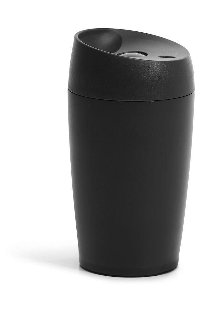 Sagaform Bilmugg med låsbar tryckfunktion, liten svart
