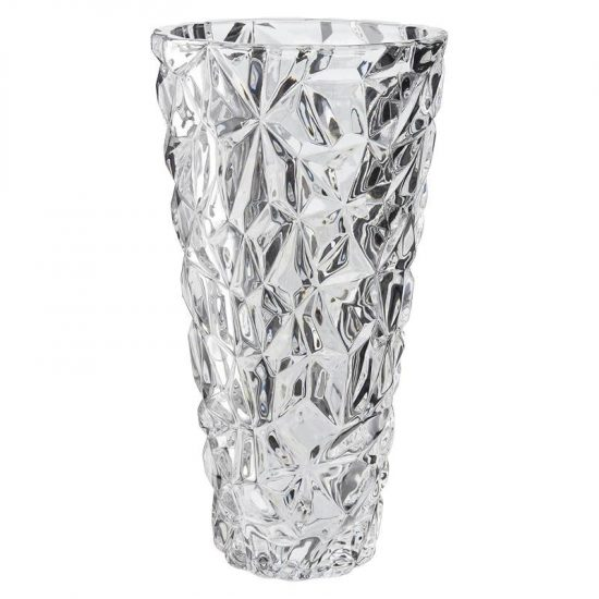 Vas Elegant Kristall Konisk Höjd 25,5 cm Dorre