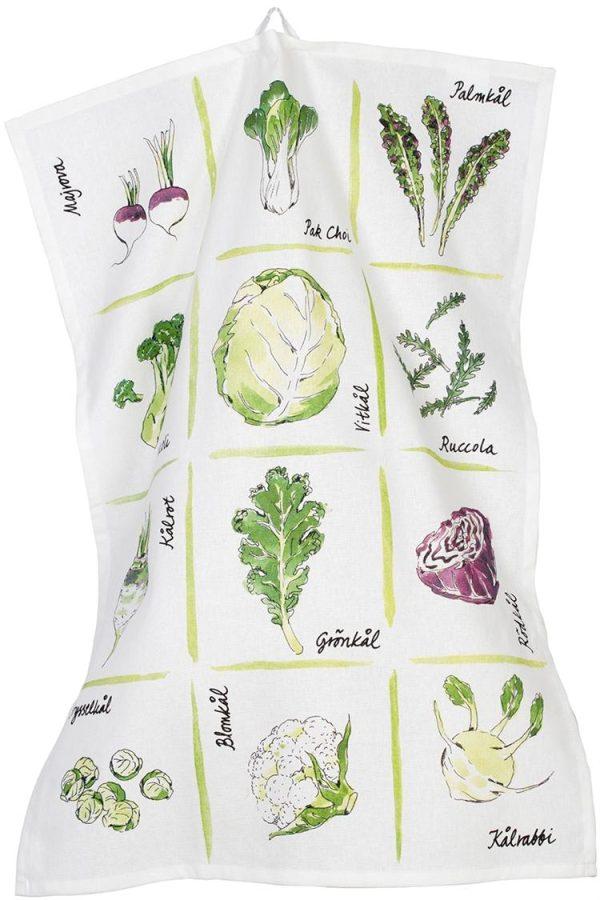 Kökshandduk Veggie Cult Design