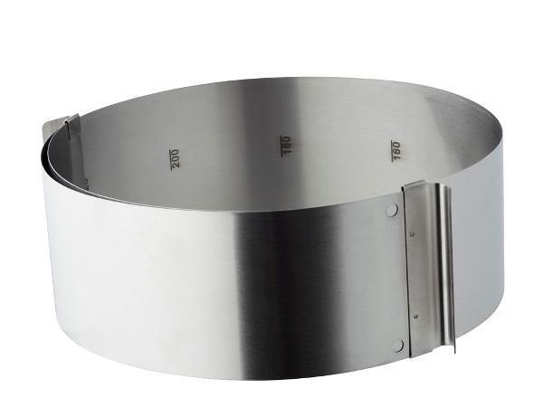 Tårtring / Kakform justerbar 16-32 cm Funktion