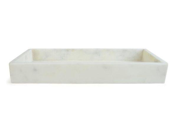 Bricka 30x15 cm Avlång Marmor Form Living