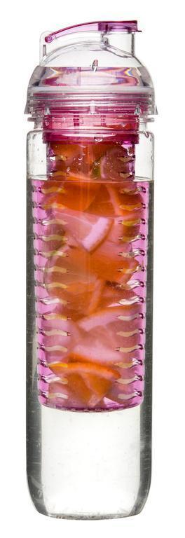 Vattenflaska med fruktkolv 80cl Sagaform