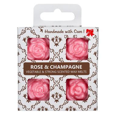 O.W.N Candles Miljövänligt&Handgjort Doftvax 2x 4-pack Rose Champagne