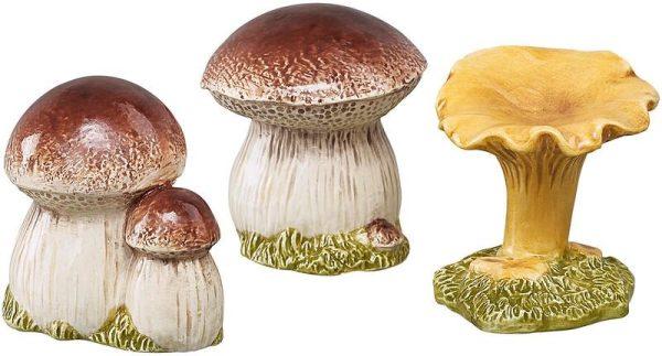 Skogssvampar minisar 3-pack prynad / dekoration