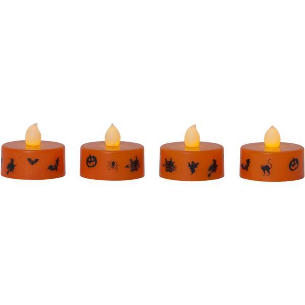 Hallowen Värmeljus 4 -pack LED